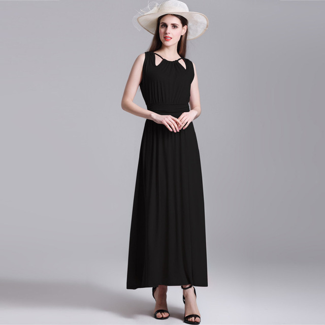 AFEENYRK 2017 Brand Summer Dress Women Black Elegant Sexy Casual Office polyester Party Dresses Vestidos h0647 2