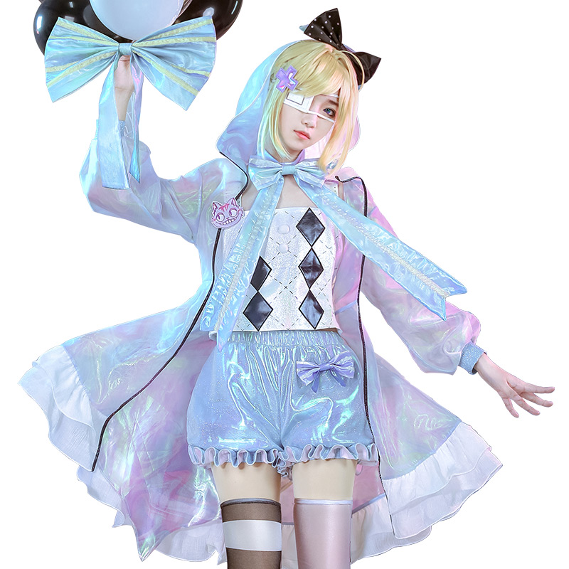 Alice In Wonderland Cosplay Costume Laser Boy Alice Fan Art Cosplay Costume Lovely Halloween Costumes Gift Movie Tv Costumes Aliexpress