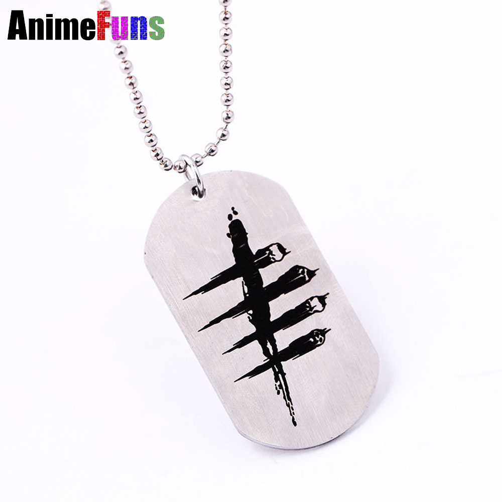 2016 New Arrive Game Dead by Daylight Necklace stainless steel Pendant Keychain Chain Ne ...