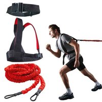 DHL Free shipping Fitness Rally Rope Strength Training Equipment Set track and field resistance tubes with waist belt