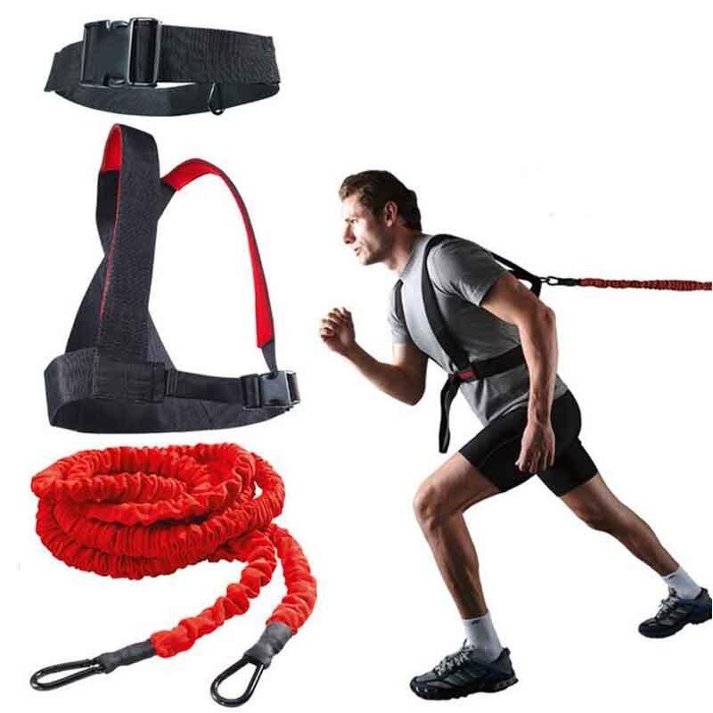 DHL livraison gratuite Fitness rallye corde équipement de musculation Set tubes de résistance sur rail et champ avec ceinture