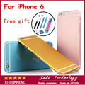 High Quality Replacement Full Back Metal Housing For iPhone 6 6g 4.7 Colorful Back cover Housing for iphone6 Free Shipping