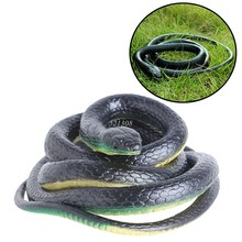 Gift Tricky Funny Spoof Toys Simulation Soft Scary Fake Snake Horror Toy For Party Event MAY17_35(China)