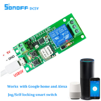 Sonoff Smart WiFi Remote Control DIY Universal Module DC5V 12V 32V self-locking Wifi Switch Timer for Smart Home
