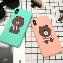 3d Cute Anime Cartoon Bear Phone Cover Case For Iphone X Xs Max Xr1 0 8 7 6 6s Plus Color Candy Soft Silicone Cases Coque Fundas