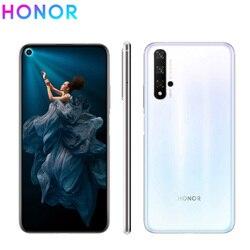 Перейти на Алиэкспресс и купить new honor 20 mobile phone 6.26дюйм. 8gb ram 256gb rom kirin 980 octa core super charge side fingerprint android 9 nfc smart phone