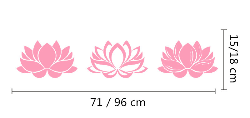 Lotus flower yoga wall sticker lotus wall art flower floral living lotus flower yoga wall sticker lotus wall art flower floral living room bedroom yoga studio home decor in wall stickers from home garden on aliexpress mightylinksfo