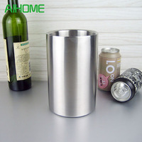 Good Quality Stainless Steel Ice Bucket Wine Cooler Whisky Wort Chiller With Hot Barware Champagne Buckets