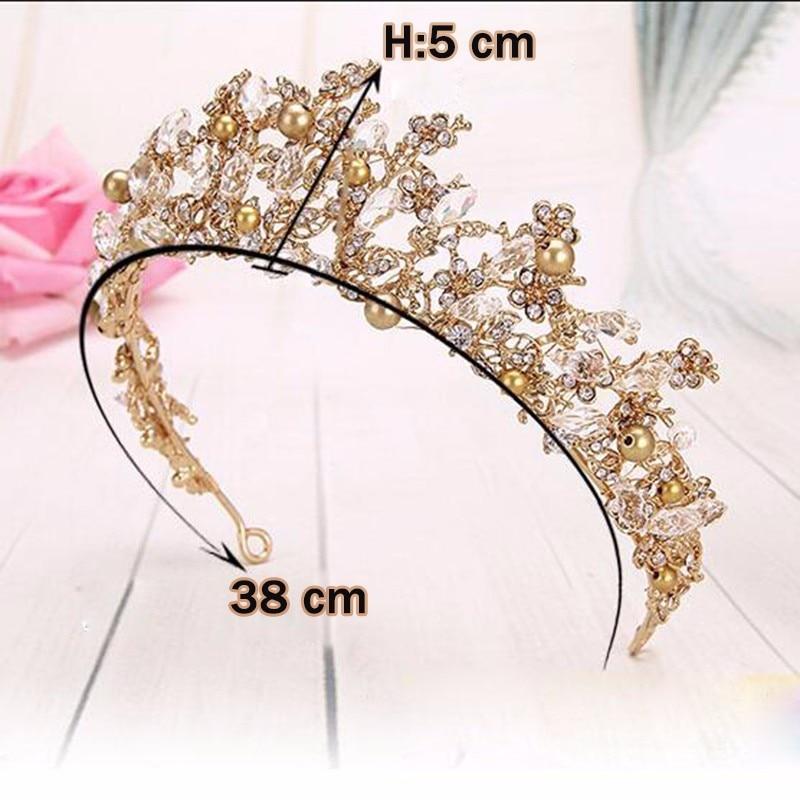Fashion Magnificent Diadem Clear Crystal Bridal Tiaras Flower Wedding - მოდის სამკაულები - ფოტო 6