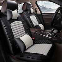 (Спереди и сзади) кожаные сиденья автомобиля чехлы для Mitsubishi Outlander Pajero pinin sagma Haunter автомобильные аксессуары авто стиль