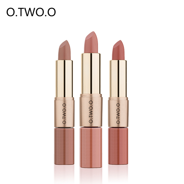 O.TWO.O Lip gloss Matte lipstick 2 in 1 liquid Lipstick Easy to wear Long lasting  Moisturizing Waterproof Nonstick cup 12 Color