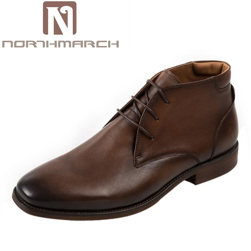 NORTHMARCH Classic Genuine Leather Martin Boots British Luxury Brand Fashion Desert Boots High Top Leather Shoes Botas Hombre fall trendboots in europe and america heavy bottomed martin boots british style high top shoes shoes boots sneakers