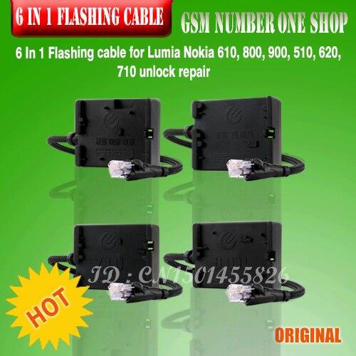 Free Shipping+original 6 In 1 Flashing cable for Lumia Nokia 610, 800, 900, 510, 620, 710 unlock repair+Free Shipping