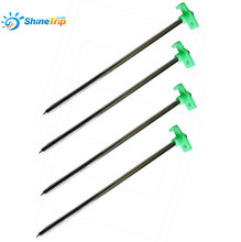 10PCS High strength 25cm Plastic Steel Tents Peg Outdoor Tent Accessories T shape Beach Nail Tent Nail Canopy Nail Camping