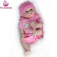 UCanaan Handmade 50cm Full Silicone Doll Reborn 20 Vinyl Fashion Realistic Toys For Girls Baby Alive