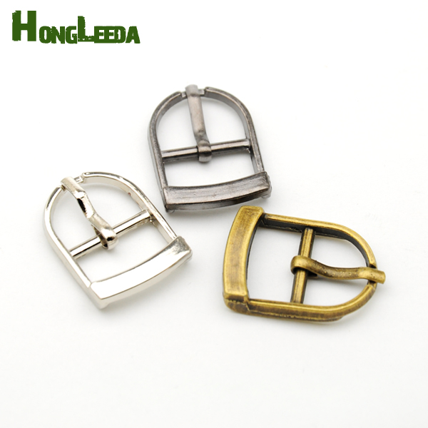 DIY 30pcs/lot small metal <font><b>15mm</b></font> shoe <font><b>buckle</b></font> pin <font><b>buckle</b></font> high polished silver/black/bronze belt bag <font><b>buckle</b></font> free shipping BK-004 image