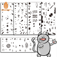 Nail Art Airbrush Spring Flowers Birds Nail Art Stencil Templates nail Decorations Set with 5 Design Sheets (120 Designs)