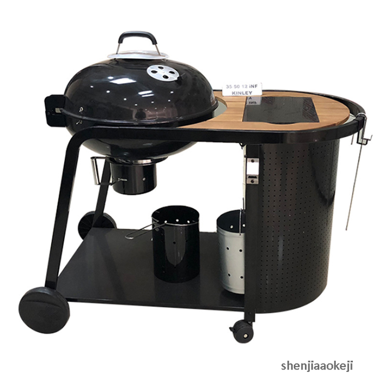 Courtyard Grill Large Queen Grill Outdoor Garden Plus European Deluxe Grill Easy move Trolley furnace grilling stove  barbecueCourtyard Grill Large Queen Grill Outdoor Garden Plus European Deluxe Grill Easy move Trolley furnace grilling stove  barbecue