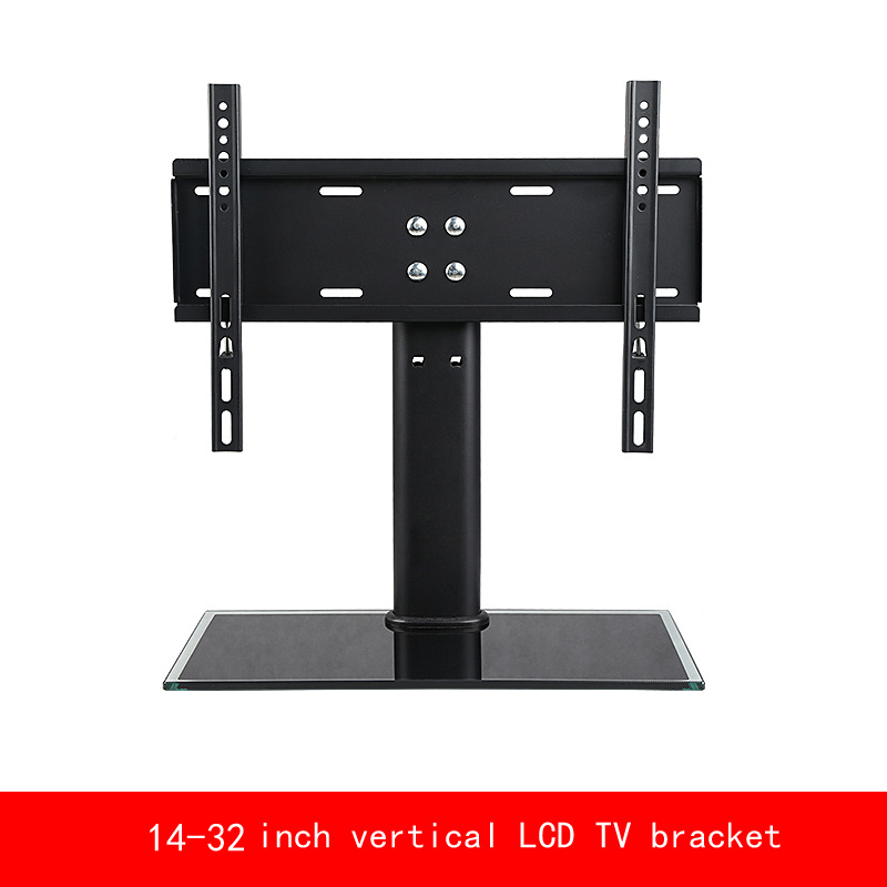 "VESA standard 14""-32"" inch move up or down PC Monitor plasma LCD TV bracket vertical Toughened glass base stent"