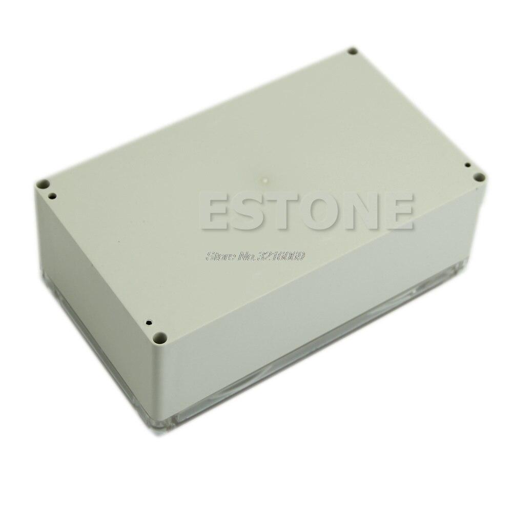 Étanche Couvercle Transparent En Plastique Boîte de Projet Électronique Boîtier CAS 200x120x75mm