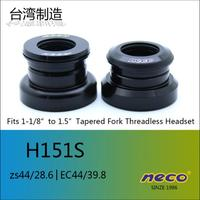 Neco Bike Headset Threadless H151S fits 1 1/8'' to 1.5'' ZS44/28.6 EC44/39.8 Tapered Fork Steerer cycling mtb track bike Headset