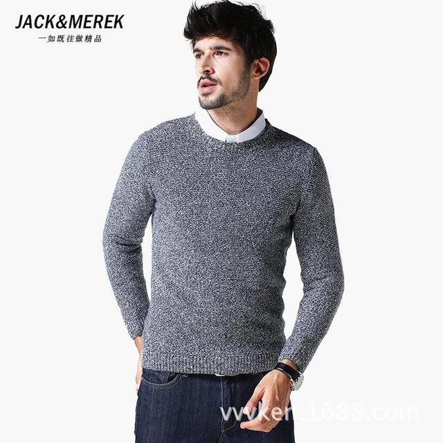 O Neck Men Pull Knitting Sweater Long Sleeve Men Jumpers Pullover Sweater Round Neck Pullover Sweater Men Pull Knitting Sweater