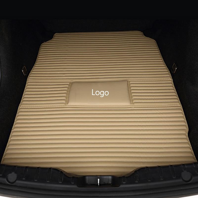 Special car trunk mats for Hyundai All Models solaris ix35 30 25 Elantra MISTRA GrandSantafe accent auto styling Cargo Liner special car trunk mats for peugeot all models 307 206 308 407 207 406 408 301 3008 car accessories auto styling auto cargo liner