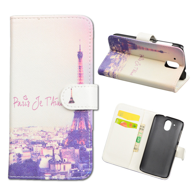 JR Cartoon Printed PU Leather Case For HTC Desire 326G / Desire 526 526G dual sim 526G+ Flip Cover Wallet Stand Phone Bag