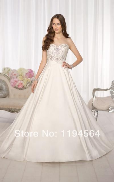 Cheap Price ! Fashion 2014 A Line Ivory Taffeta Sweetheart Bridal ...