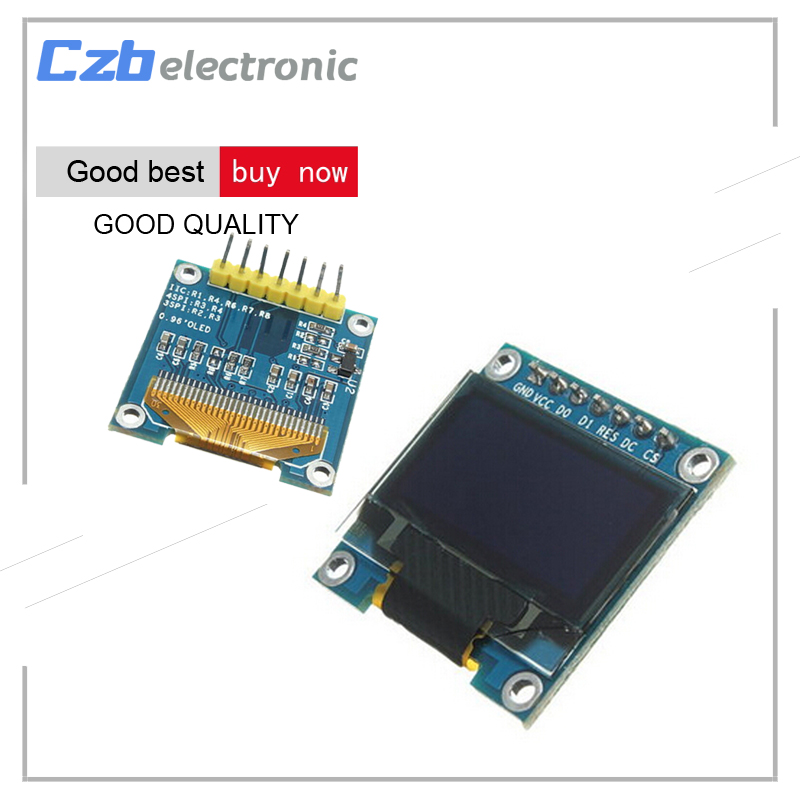 0.96 inch IIC Serial White OLED Display Module 128X64 I2C SSD1306 12864 LCD Screen Board GND VCC SCL SDA 0.96 for Arduino