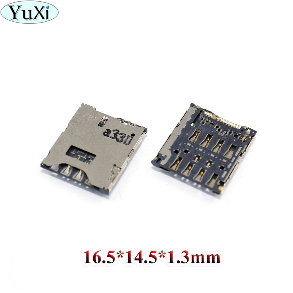 YuXi SIM Card Reader Holder Socket Connector replacement for HTC ONE S Z520E 8S A620E A620D A620T 8X 528T 528W 528DSIM