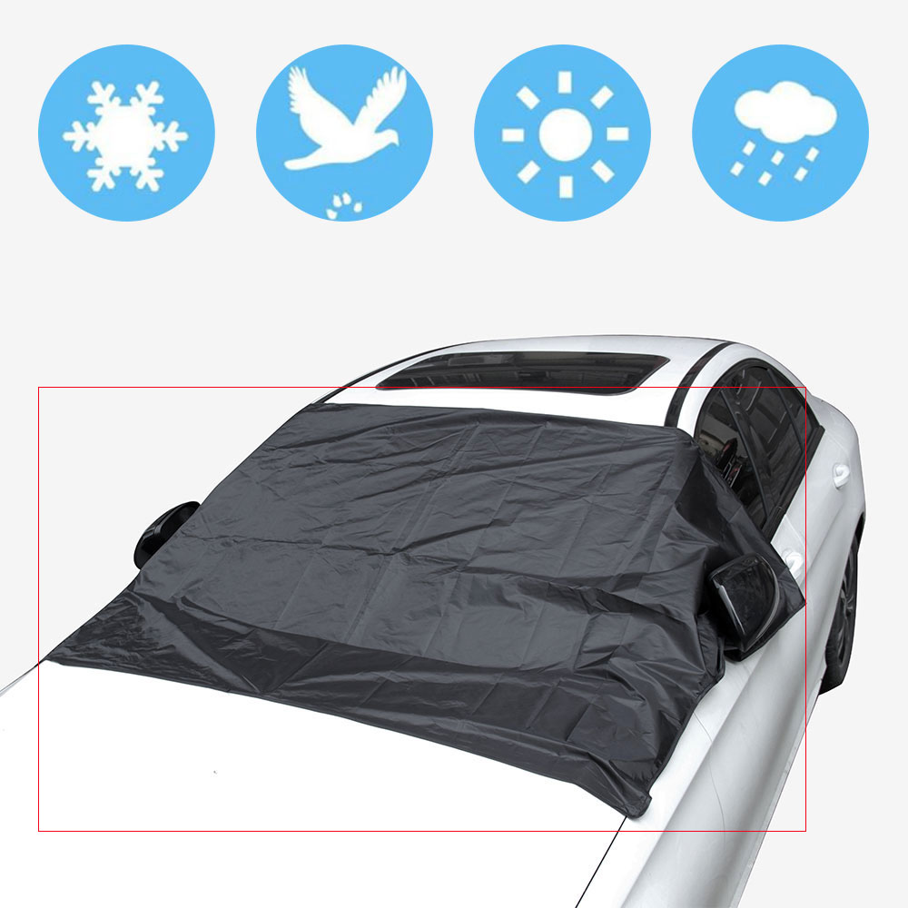 Universal Car Sunshade Cover with Magnet Auto Front Windshield Sunshades Window Black Color