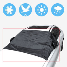 Universale Copertura con il Magnete Auto Anteriore Auto Parasole Parabrezza Ombrelloni Finestra di Automobile Parasole Colore Nero