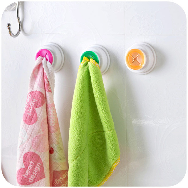 kitchen towel hanger small islands creative convenient cloth clips pegs non trace hooks dish hangers free shipping