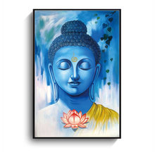 Lotus Buddha Oil Painting Wall Art Picture Posters And Prints Living Room Abstract Painting(China)