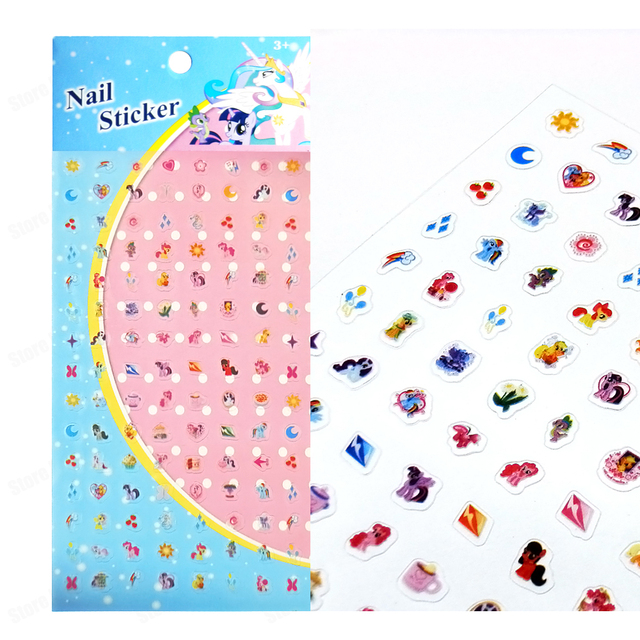 Kids My Little Pony Nail Sticker Pvc Art Stickers Decals Horse Manicure
