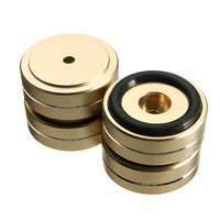 LEORY 4PCS Stainless Steel Speaker Spikes Stand Foot Turntable Isolation Feet Pads Cones Base Mat For