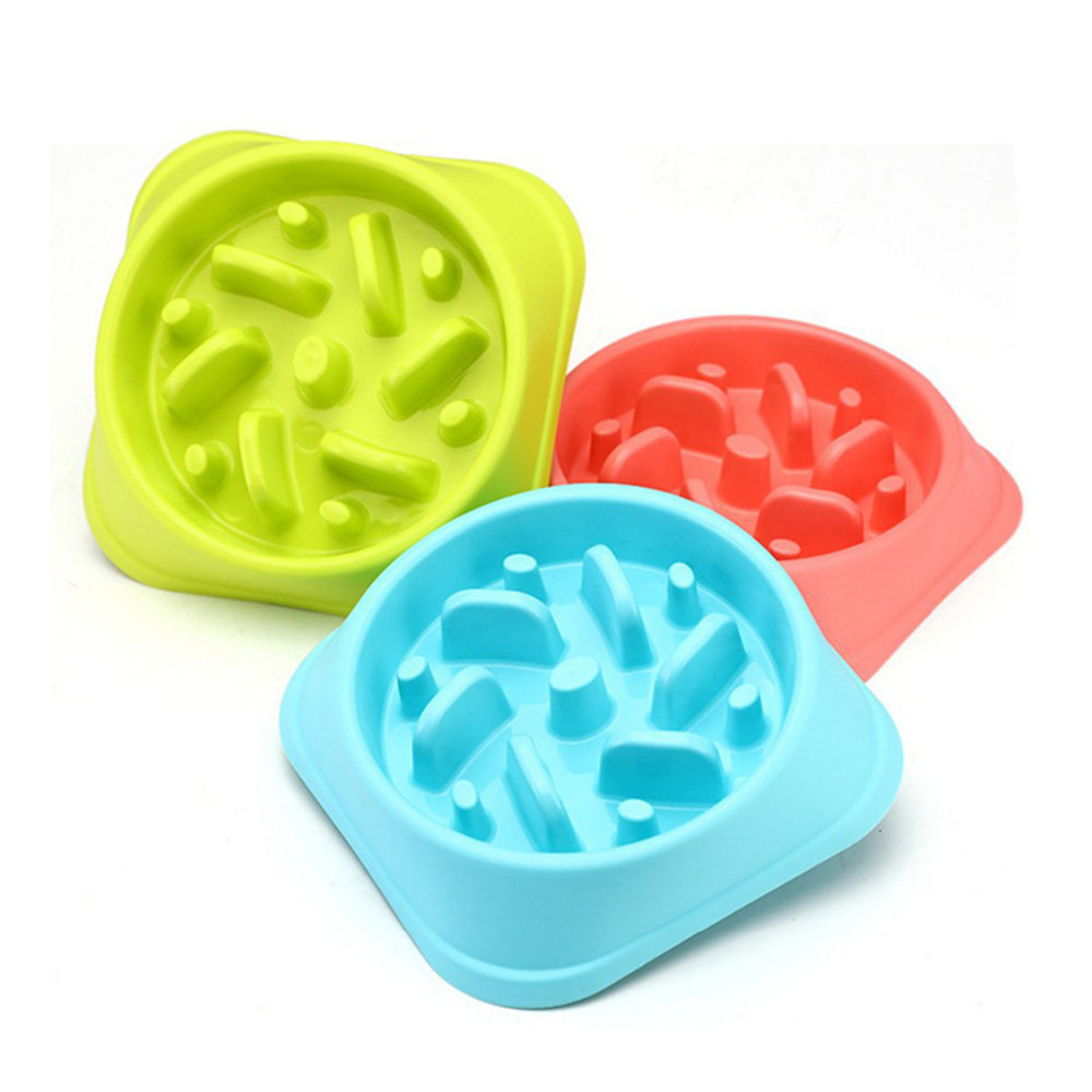 Dogs Cats Bowls And Pets Feeders Anti-Choking For Pet Dog Drinking Water Eating Bowl Cat Slow Feeder Container Supplies For Food