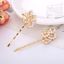 Minimalist Wedding Bridal Hair Styling Clips Women Girls Cute Imitation Pearl Tree Metallic Hairpins Birthday Wavy Barrette Gift