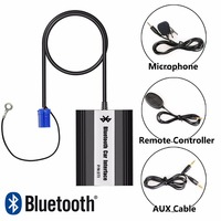 APPS2Car Car Radio Bluetooth Kits Hands Free Calls Music Stream Adaptor Car Integrated USB AUX Jack