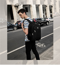 Oxford cloth Black Backpack Waterproof Men's Back Pack 15.6 Inch Laptop Mochila High Quality Designer Backpacks Male Escolar