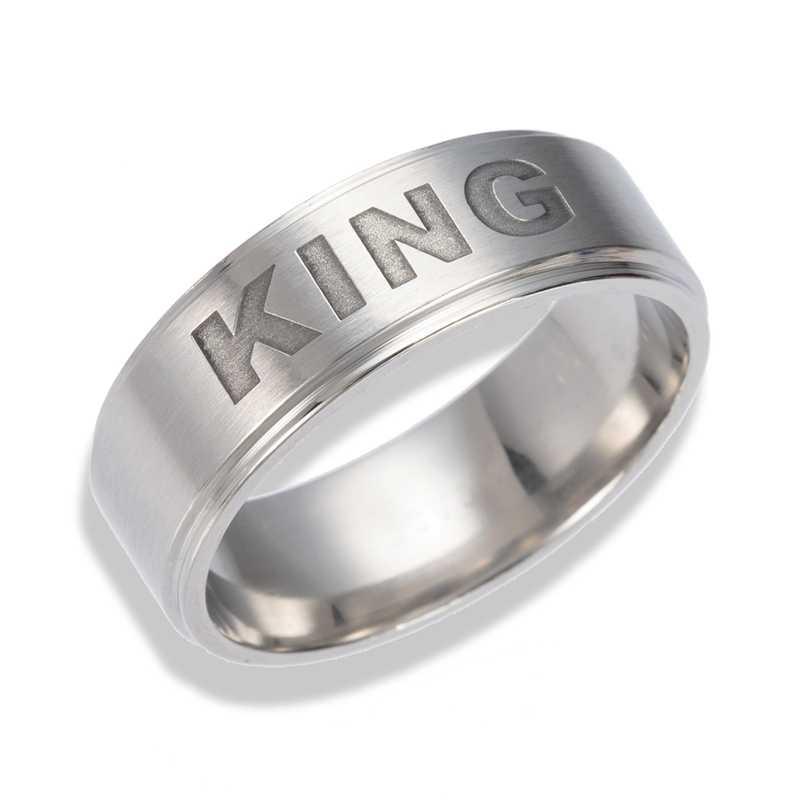 خواتم جديدة من Gaxybb بتصميم محبين من الفولاذ المقاوم للصدأ من ملكتك وخواتم الملك المحبين بها للبيع بالجملة