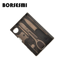 50 шт. по почте пакет многофункциональный карты Комбинированные Инструменты аварийный нож в кармане мини маникюрный набор