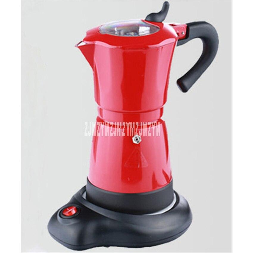220-240V 480W electric Mocha potty Italian coffee pot home office electric heating coffee coffee Mocha coffee equipment 6 cups 04 nude mocha