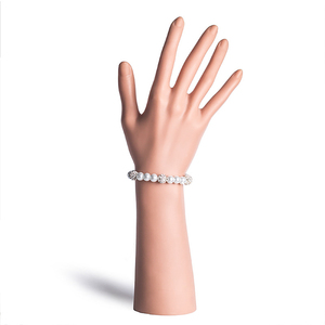 Женский браслет с кулоном, простой, из искусственного жемчуга, инкрустированный стразами, для свадебной вечеринки, 2020