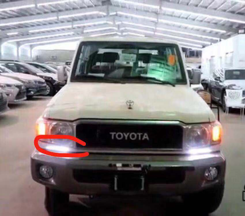 Accessories LED Daytime Running Light For Toyota Land cruiser LC70 LC71 LC76 LC77 LC78 LC79 Car