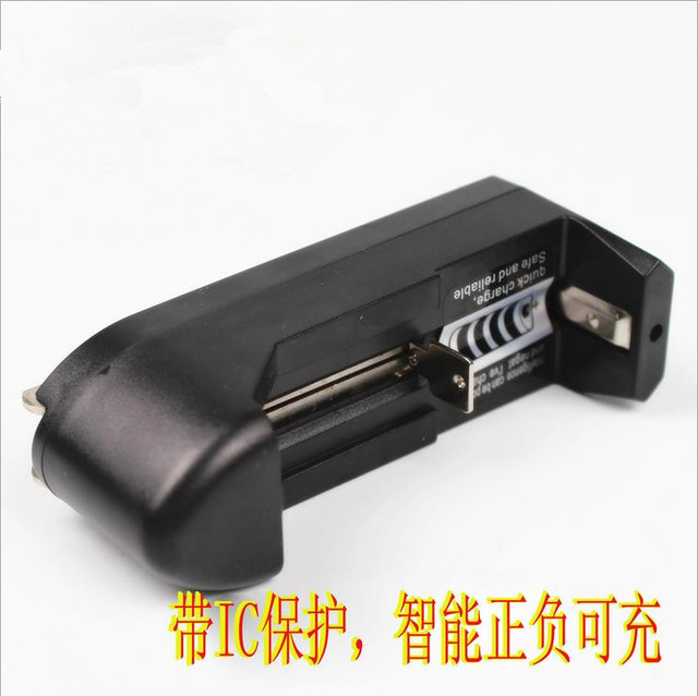 FREE SHIPPING 100 PCS Universal charger 18650 glare flashlight lithium battery monocolpate 4.2v 3.7v lithium battery charger