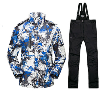 Ski Suit Men Skiing Windbreaker Thermal Warmth Snowboard Bomber Hiking Jackets Outdoor Camping Winter Snow Clothes Sportswear