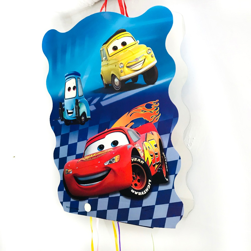 40*30cm DISNEY  Lightning Mcqueen Pinata Cartoon Party Supplies Kids Disposable Plastic Children's Birthday Boys Party Favors