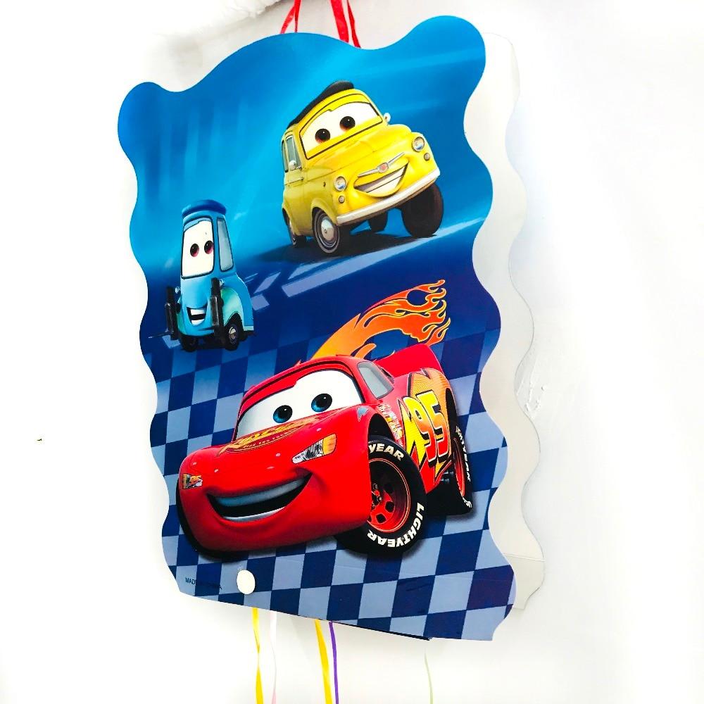 40*30cm DISNEY  Lightning Mcqueen Pinata Cartoon Party Supplies Kids Disposable Plastic Children's Birthday Boys Party Favors